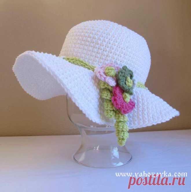 шляпа с полями вязаная крючком схемы вязания летних шляпок крючком