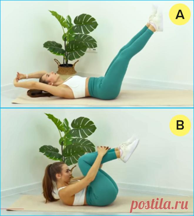 10 упражнений, чтобы убрать дряблый живот к Новому году – 10-минутная тренировка для женщин и мужчин | Похудей с нами | Яндекс Дзен