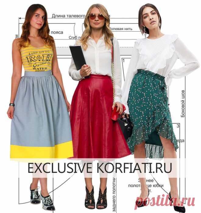 Как сшить юбку - выкройки от Анастасии Корфиати Модели шикарных юбок с выкройками и инструкциями. Перед тем как сшить юбку, прочтите наши советы - и вы сможете сшить юбку так же просто, как профи.