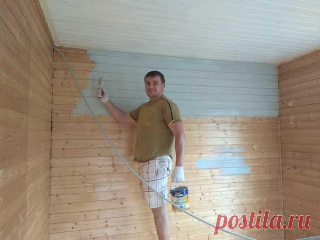 Покраска вагонки творит чудеса! Бюджетный ремонт комнаты на даче.