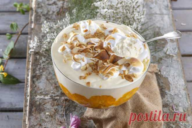 Receita de: Trifle de inverno com laranja - Teleculinaria Receita de Trifle de inverno com laranja. Descubra como cozinhar Trifle de inverno com laranja de maneira prática e deliciosa com a Teleculinária!