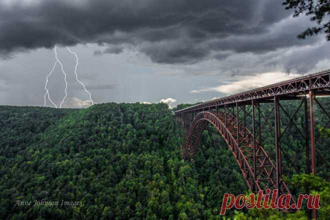 «New River Gorge Bridge, Западная Виргиния, США» — карточка пользователя Алёна Ростунцова в Яндекс.Коллекциях
