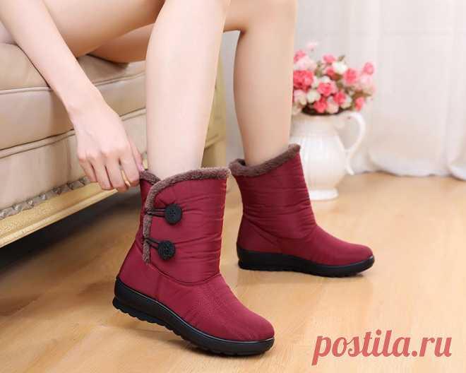 a1a81dd1b Зимние сапоги, женские непромокаемые сапоги, зимняя обувь, женские  ботильоны, para mulheres tornozelo