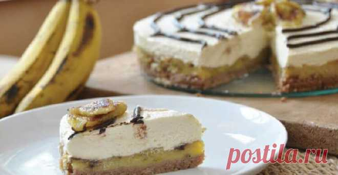 Вкуснейший банановый чизкейк без выпечки — Лайм