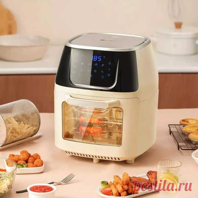 Youban yb-ra006 visual multifunctional air fryer from xiaomi youpin 220v~50hz 1500w holographic touch fixed temperature rotating plancha for kitchen Sale - Banggood.com