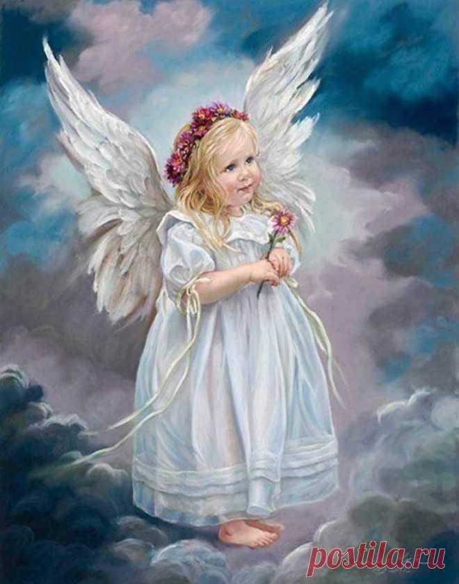 21 ноября - ДЕНЬ АНГЕЛА - ХРАНИТЕЛЯ  Мой добрый ангел, сядь мне на плечо!  Явись ко мне ты другом, не слугою…  Люби меня, как прежде, горячо,  Веди вперёд… по жизни, за собою!    Своим крылом от зла убереги,  Им заслони меня от всех напастей,  Чтобы бессильны стали вмиг враги,  Им принеси и мне, кусочек счастья.    Судьбы сюрпризы примем мы вдвоём,  За эти годы мы сильнее стали,  И с легкостью теперь переживём  Все мои беды, горе и печали!