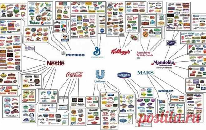 Всем на самом деле владеют несколько компаний