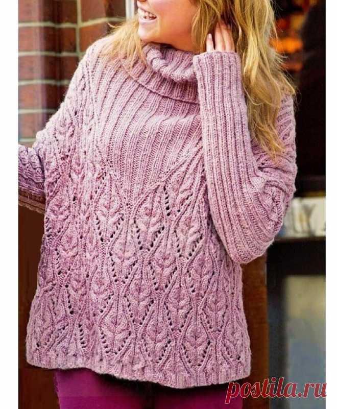 3 шикарных свитера для худеньких и пышных дам (с описанием) | Идеи рукоделия | Яндекс Дзен