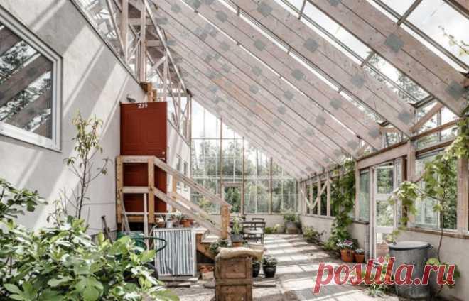 Мужчина построил себе дом внутри оранжереи, и теперь почти всегда у него лето . Чёрт побери