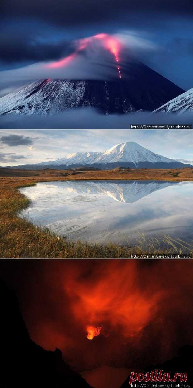 Виды Камчатки Извержение вулкана Ключевская сопка : НОВОСТИ В ФОТОГРАФИЯХ