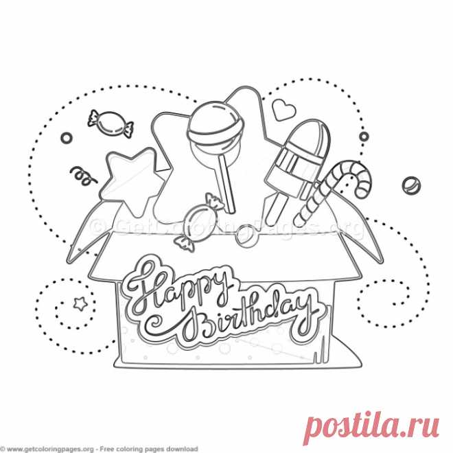 12 Happy Birthday Coloring Pages – GetColoringPages.org