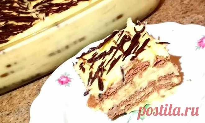 Бесподобно нежный тортик без запекания из печенья с бананом - Best-recipes.ru Теперь готовлю каждые выходные! Ингредиенты: печенье — 450 гр. банан — 3шт. (любые фрукты) Для крема: яйца — 4 шт. сахар — 180 гр. ванильный сахар — 10...