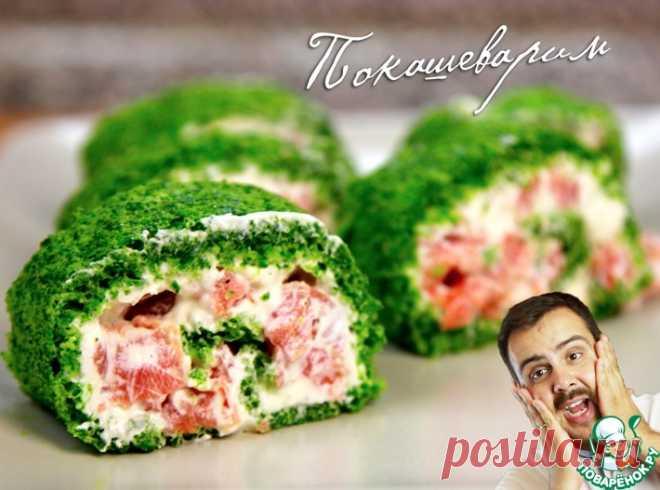 Рулеты с лососем и сливочным сыром Кулинарный рецепт