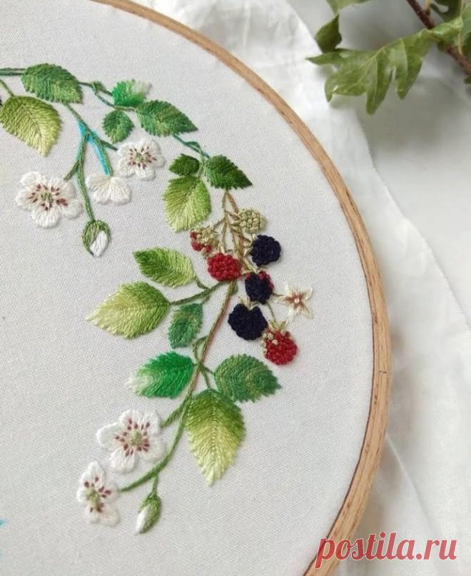 Волшебство вышивки гладью! Вдохновляемся идеями со всего света.   DIY Hand-Made   Яндекс Дзен