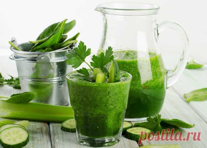 Рецепты полезных зеленых смузи для очищения организма от шлаков
