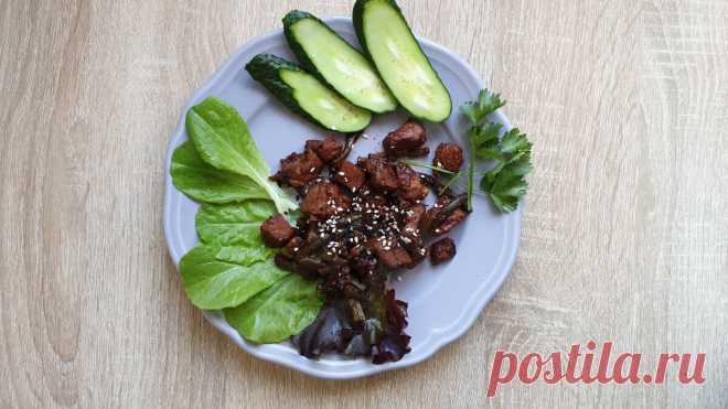 Мясо с чесночными стрелками в соусе по-корейски. Идея на ужин | Худею со 100 кг | Яндекс Дзен