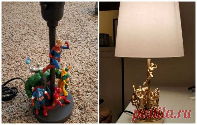 Лампа с супергероями