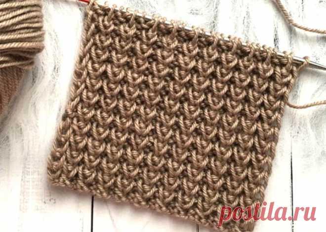 Объёмный эластичный узор спицами (Вязание спицами) – Журнал Вдохновение Рукодельницы