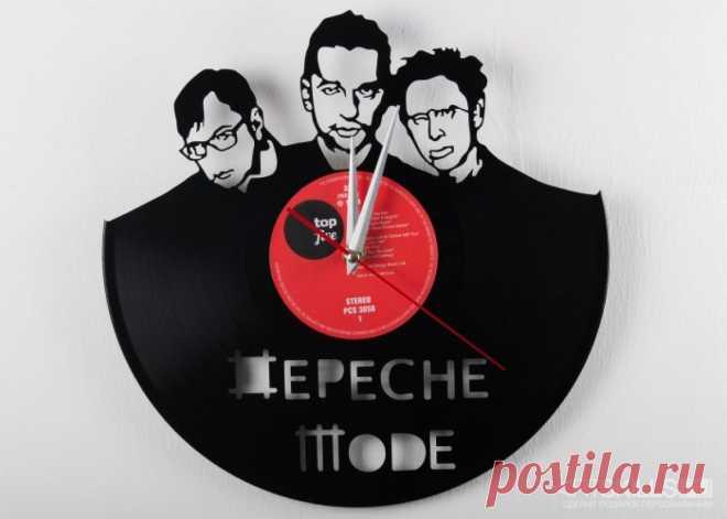 Часы из виниловой пластинки «Депеш мод» купить подарок в ArtSkills: фото, цена, отзывы