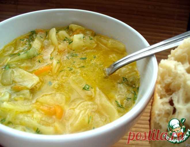 Луковый суп с капустой и лимоном – кулинарный рецепт