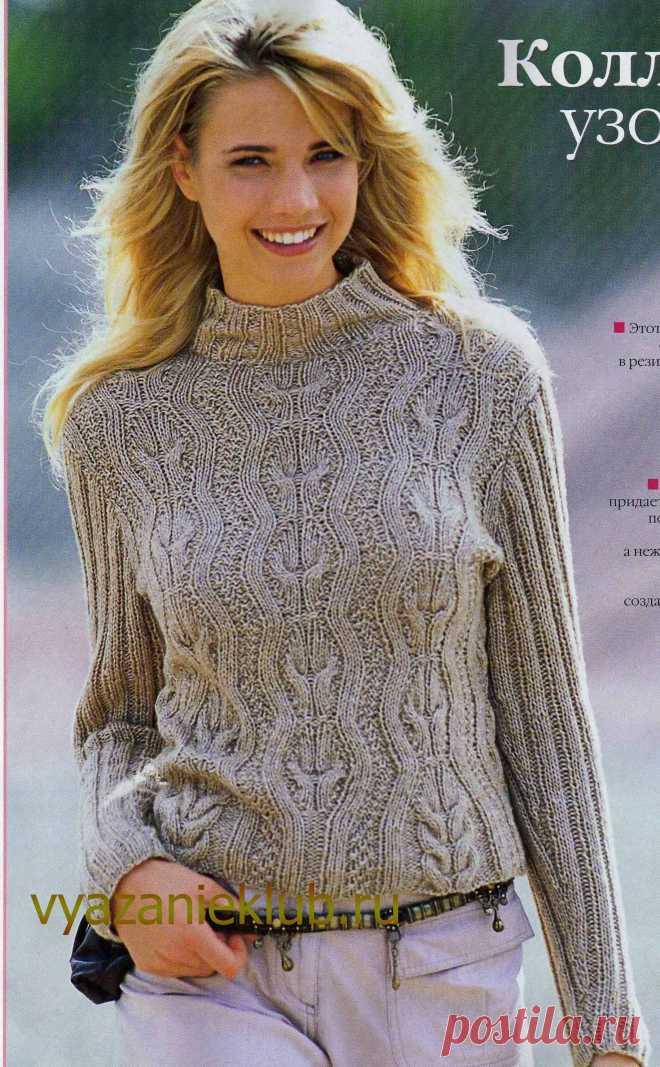 пуловер спицами для женщин вязание спицами для женщин каталог