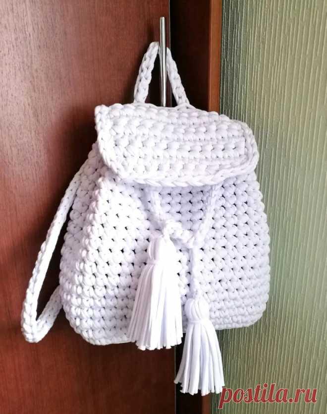 0d4508237b18 Рюкзак крючком из шестиугольных мотивов. Схемы.