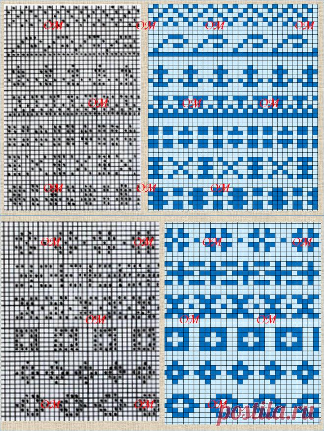 Жаккардовые схемы: милые овечки и 26 схем базовых элементов для жаккардового вязания из книги по Fair isle - часть 2 | Про мои рукоделочки и вкусняшки | Яндекс Дзен