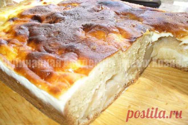 Яблочный пирог на сметане - - вкуснее шарлотки, а готовить легче!