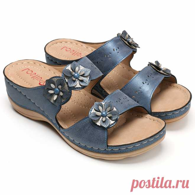 Women summer loafer thick bottom beach sandals leather anti slip casual comfort flop walking hiking camping slippers Sale - Banggood.com