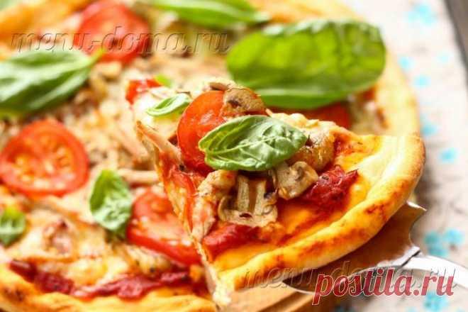 Пицца с курицей и грибами: рецепт с фото