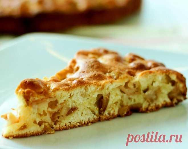Пирог с творогом и яблоками / Простые рецепты