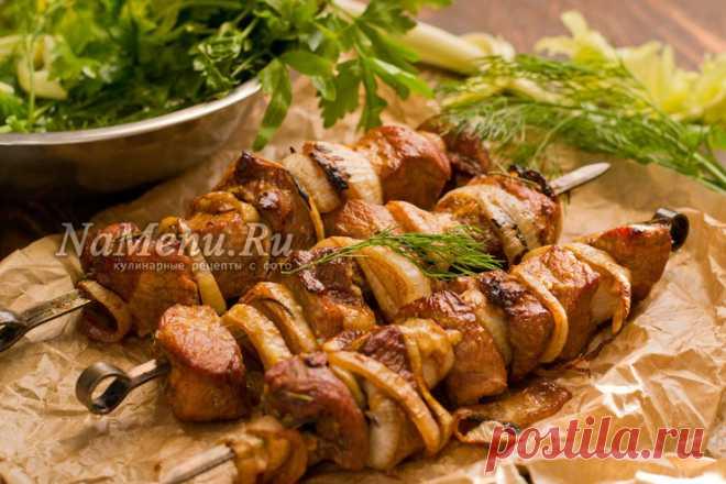 Шашлык из свинины с уксусом и луком, рецепт с фото