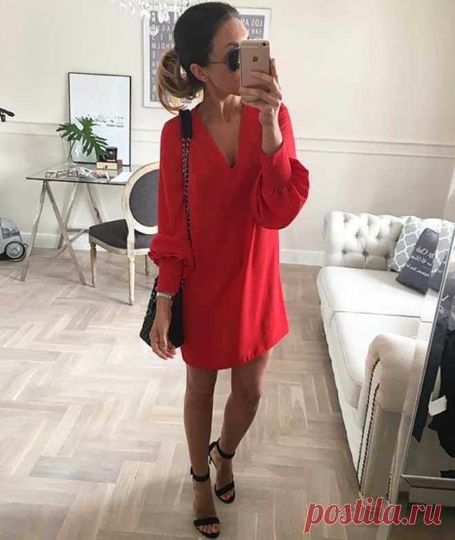 Стильные платья-трапеция 2018