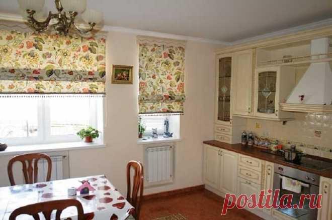 Трюки с занавесками, благодаря которым кухня сразу преобразится! Мечтала сменить шторы…