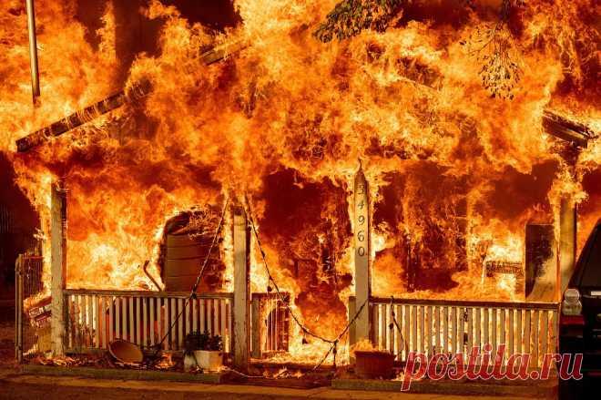 Сахарный огонь в Калифорнии