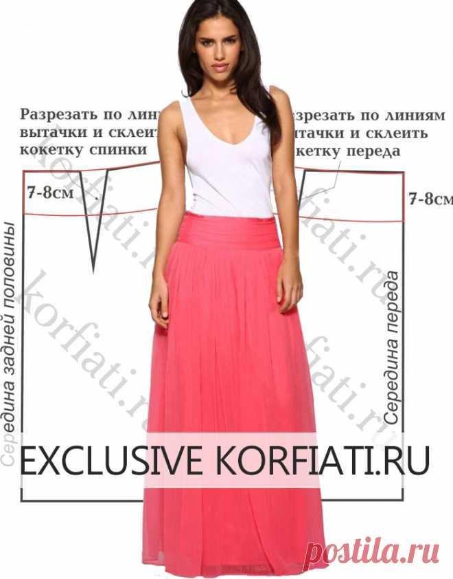 f39ddab4460 Выкройка длинной юбки из шифона от Анастасии Корфиати