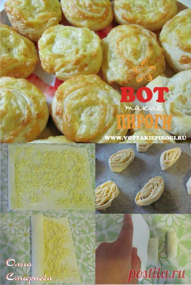 Слойки с сыром | ВОТ ТАКИЕ ПИРОГИ