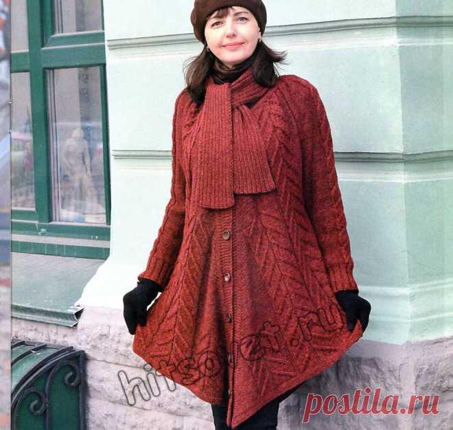 вязаное пальто пончо хитсовет модное вязаное пальто пончо для