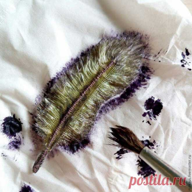 Текстильные пёрышки