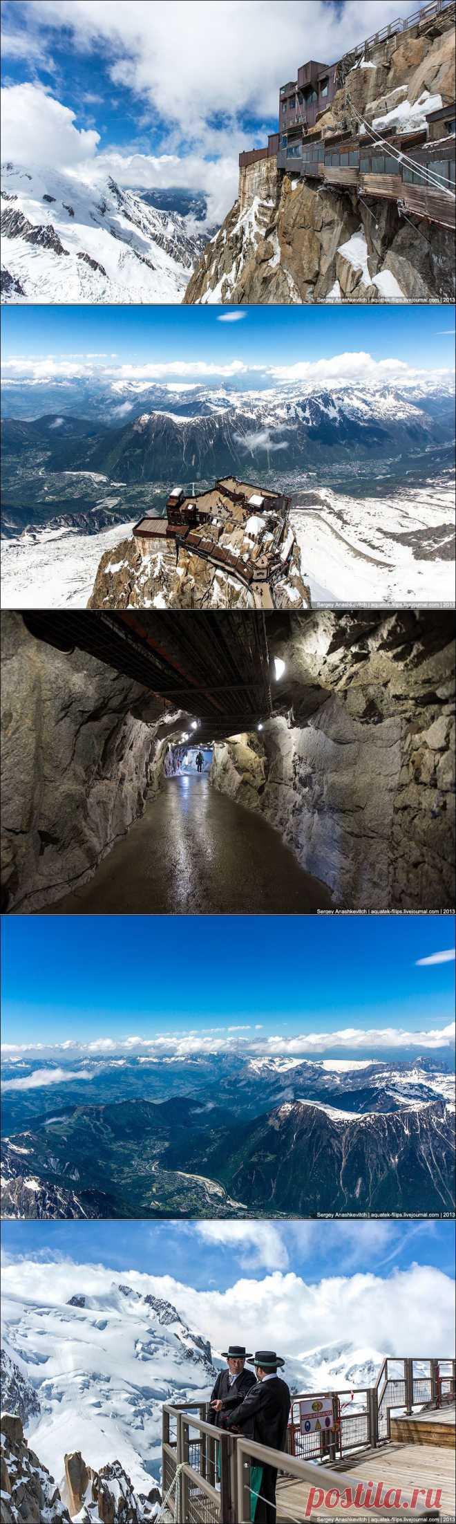 ФотоТелеграф » Вершина Aiguille Du Midi. 3842 метра над уровнем моря