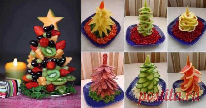 Варианты оформления новогодней нарезки На новый год даже банальная нарезка может превратиться в произведение искусства