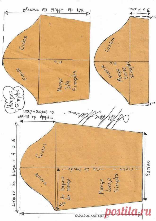 Способы преобразования формы рукавов
