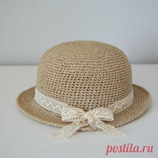 Как связать шляпку из рафии. Описание, схема. | Vyazanie.info | Яндекс Дзен