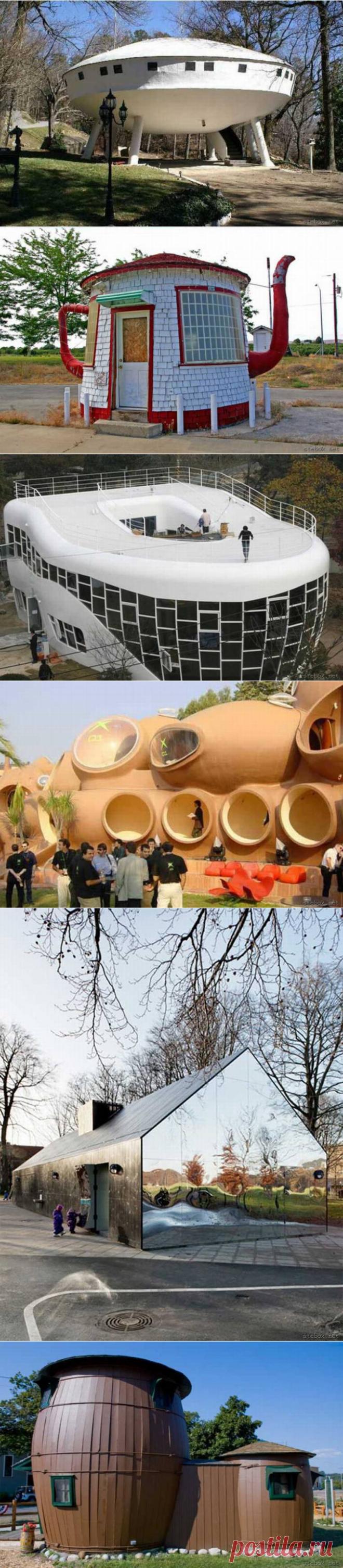 150  фото необычных домов