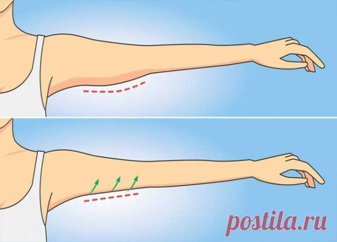 Упражнение №1, которое избавит от дряблой кожи на руках за 1 неделю и займет всего минуту! » ЧапЧап
