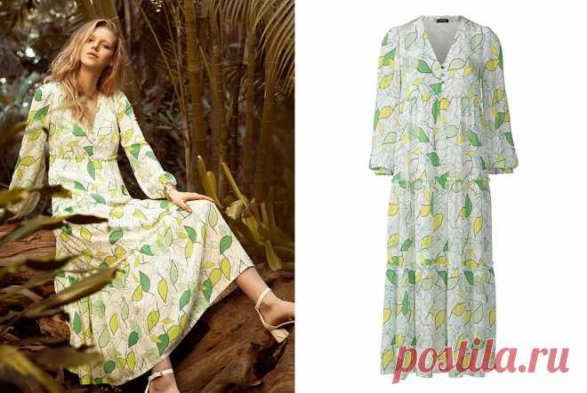 Выкройка месяца: платье макси в духе 70-х — BurdaStyle.ru