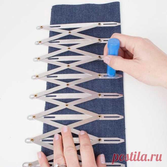 Прибор для разметки петель Модная одежда и дизайн интерьера своими руками