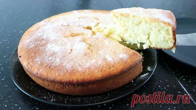 Вкусный творожный кекс. Все смешал и готово