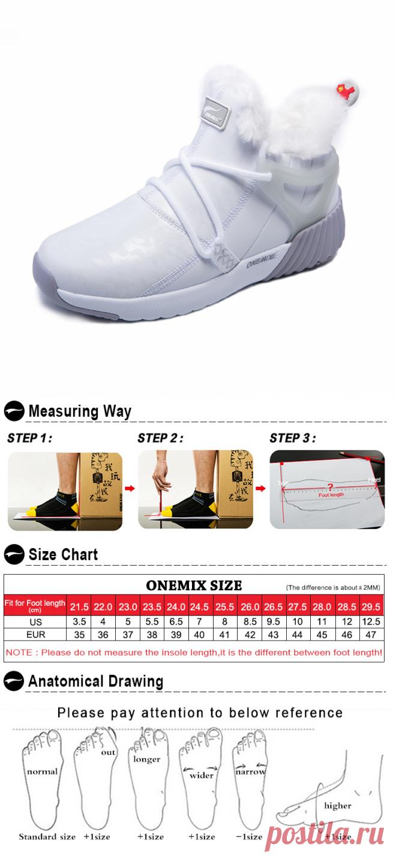 Creative Design White Warm Boots ONEMIX Winter Snow Women's Shoes
