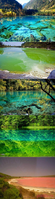 » 5 озер с водой удивительных оттенков Это интересно!